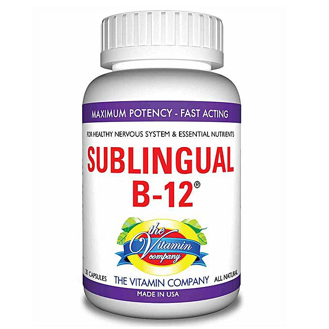 The Vitamin Company SUBLINGUAL B 12 - American Natural Supplement for Healthy Nervous System