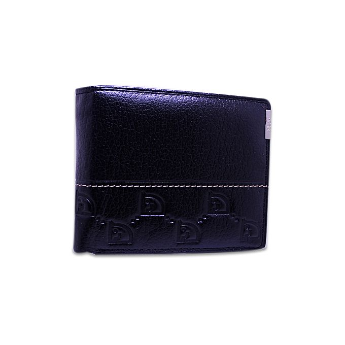 Kureshi Collections Black Leather Wallet For Men - 023-33A