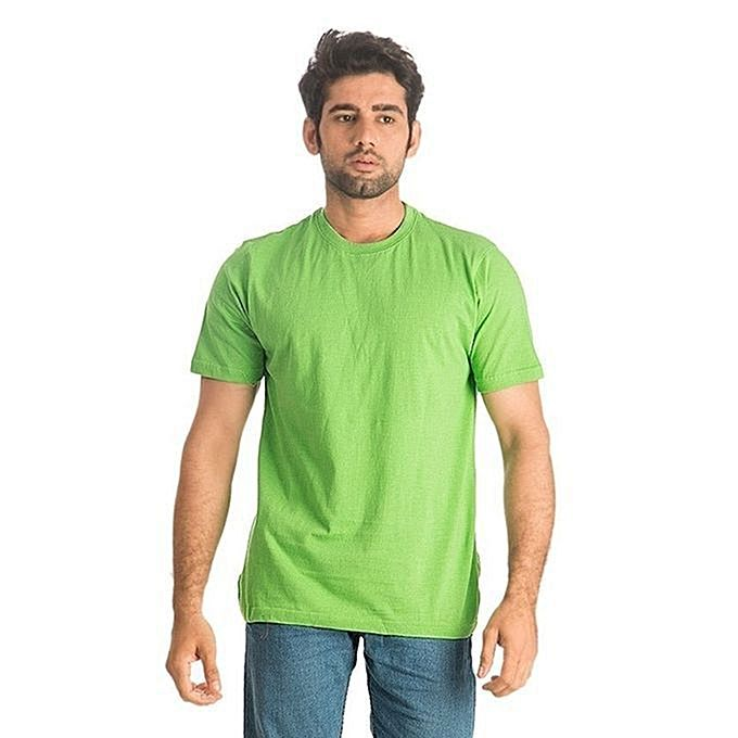 Green Cotton T-Shirt For Men