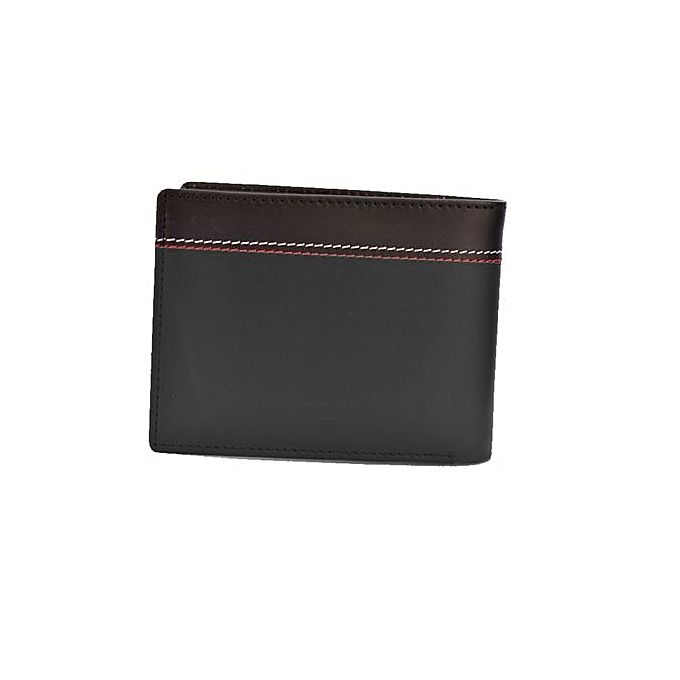 ACCESSORIES COLLECTION Cl2 - Flap Window Cow Leather Wallet - Black