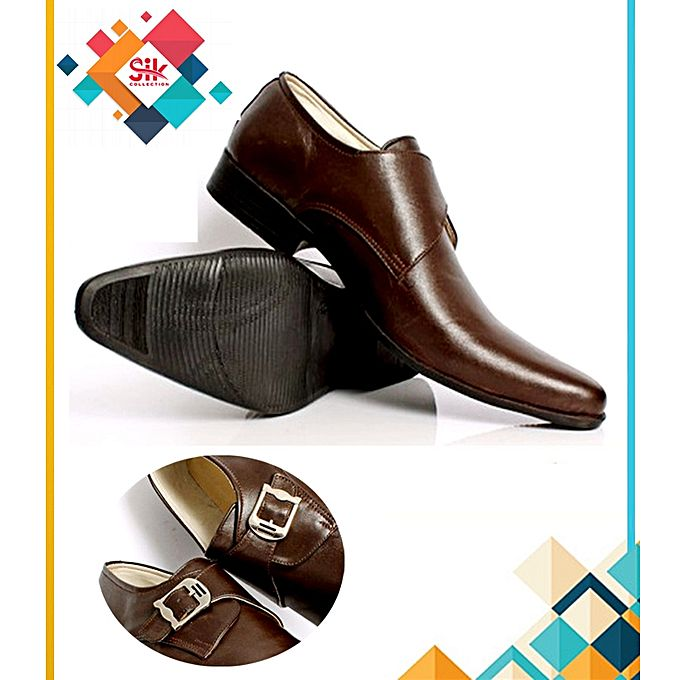 SIK Collection Brown Stylish Formal Shoes For Men