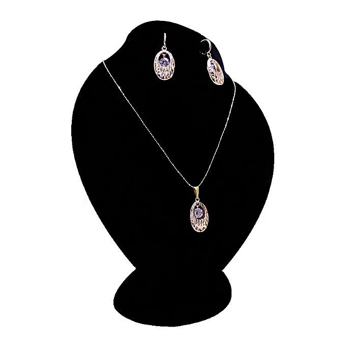 Golden & Silver Zircon Jewelry Set for Women