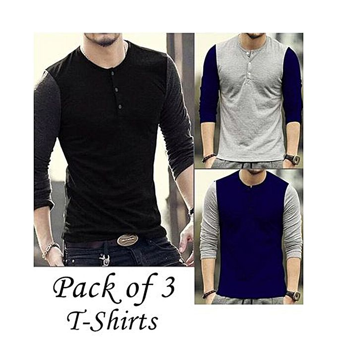Pack Of 3 Color Tone Polo Collar T shirt For Men