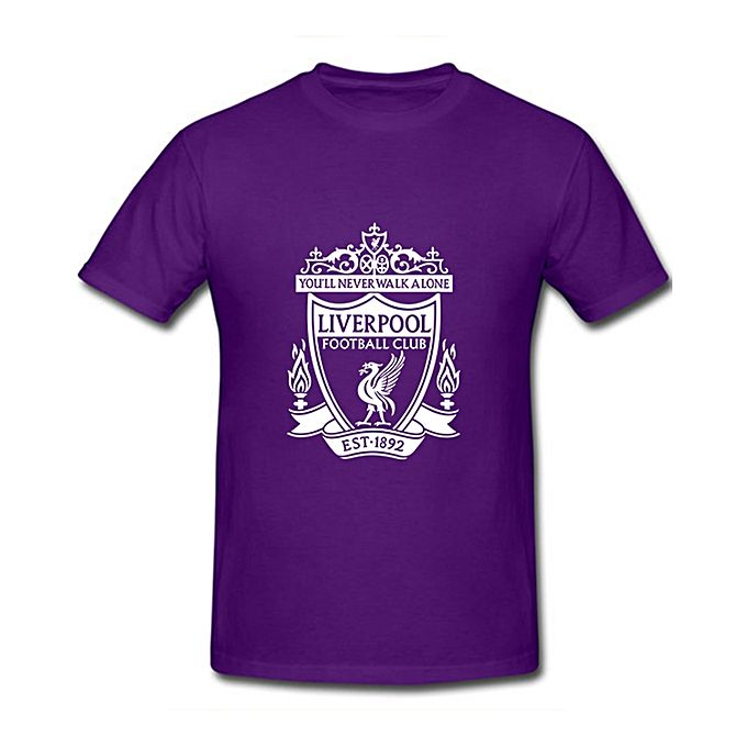 Purple Liver Pool Printed T-shirt For Men