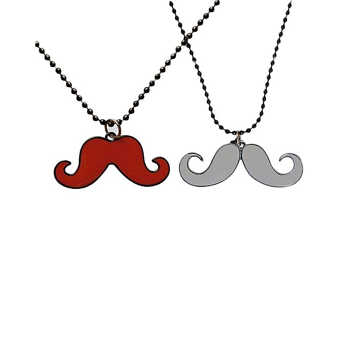 Pack of 2 - Red & White Mustache