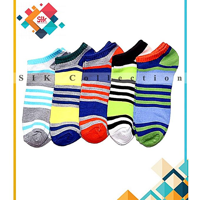 SIK Collection Pack Of 12 - Imported Printed Fancy Ankle Socks For Men