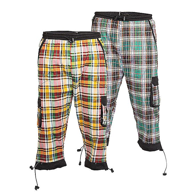 Pack of 2 - Multicolor Cotton Three Quarter Shorts for Men