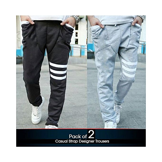 Pack Of 2 Strap Trousers For Men