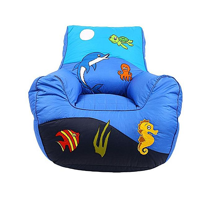Ocean Bean Bag Sofa for Kids - Blue