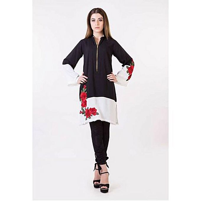 Black Cotton Shirt For Women