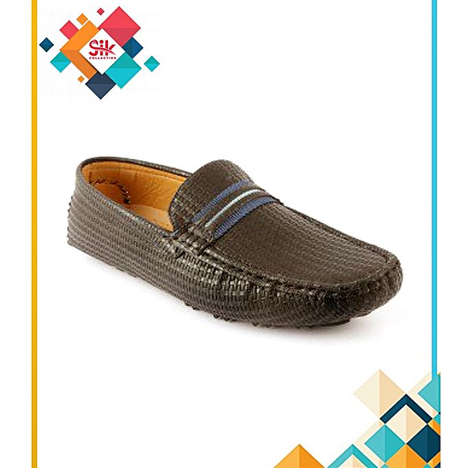 SIK Collection Brown Rexine Loafers Shoes For Men