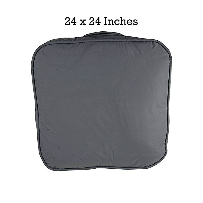Rubber Coated Fabric Floor Cushion - Grey