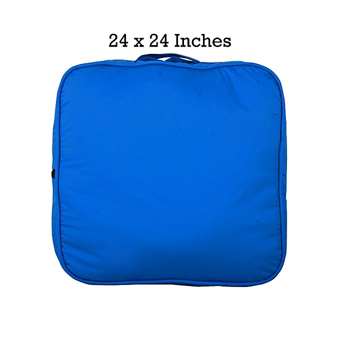 Rubber Coated Fabric Floor Cushion - Blue