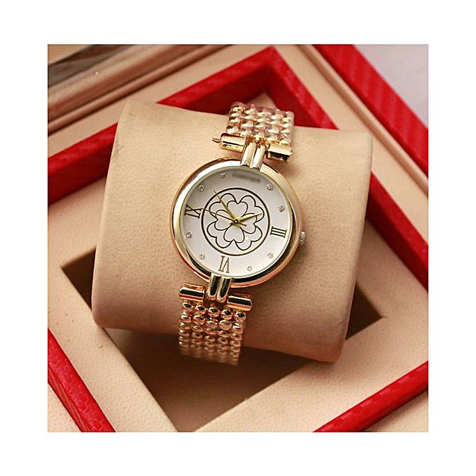 Golden Stainless Steel Watch For Women