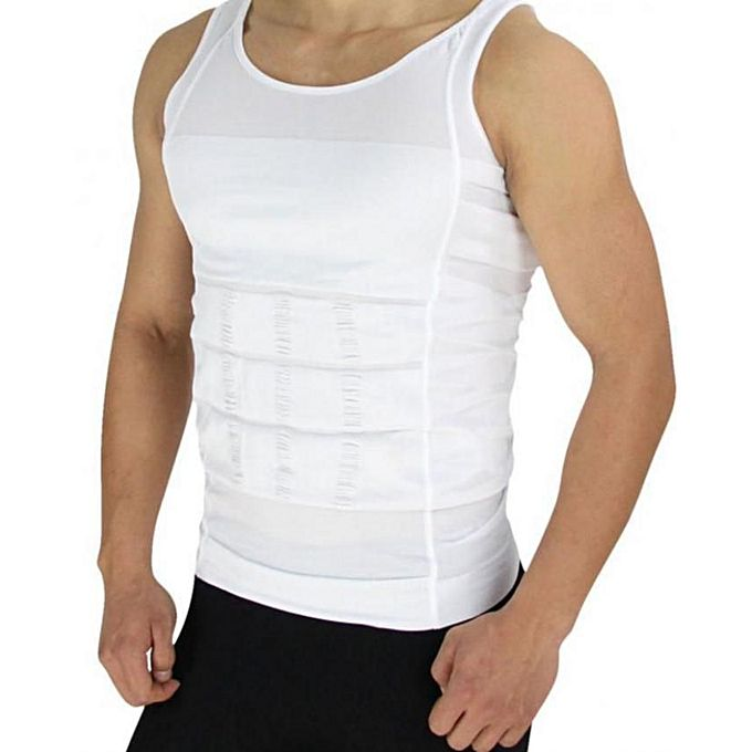 Slim N Lift - Slimming Shirt For Men - White