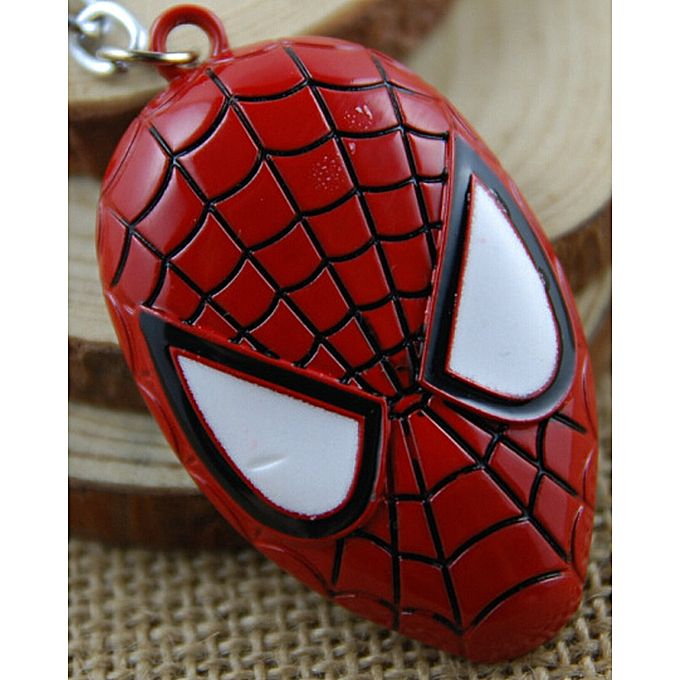 Spider Man Mask Key Chain for Boys - Red