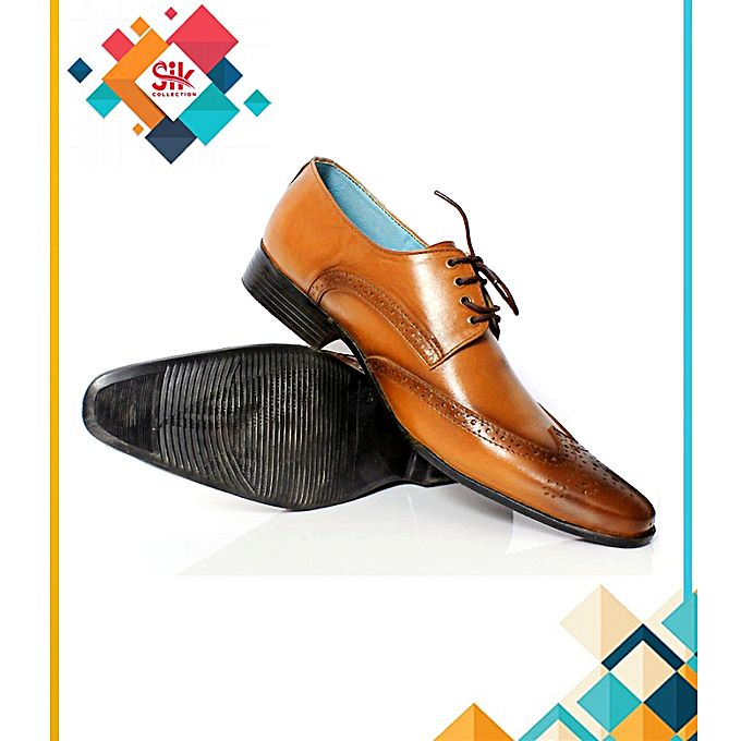SIK Collection Mustard Stylish Dotted Designs Shoes For Men