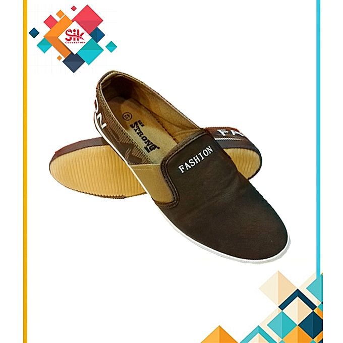 SIK Collection Dark Brown Loafers Stylish Shoes For Men