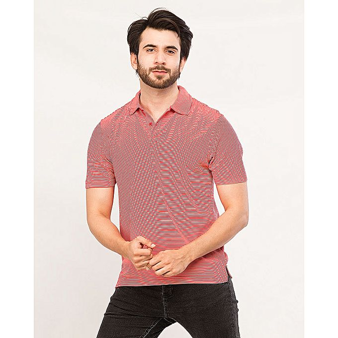 Red Lining Polo Shirt for Men