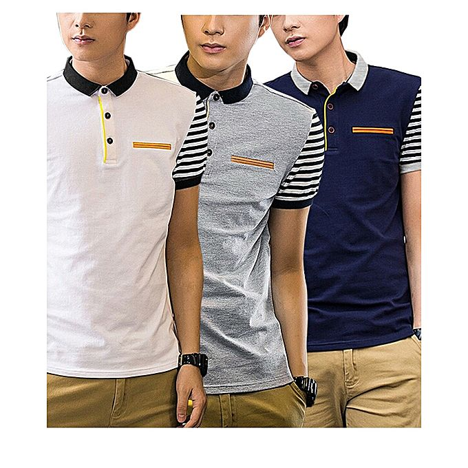 Pack Of 3 Half Sleeves Strip With Front Pocket T Shirt For Men