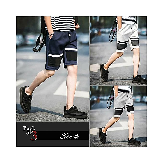 Aybeez Pack of 3 Shorts For Men