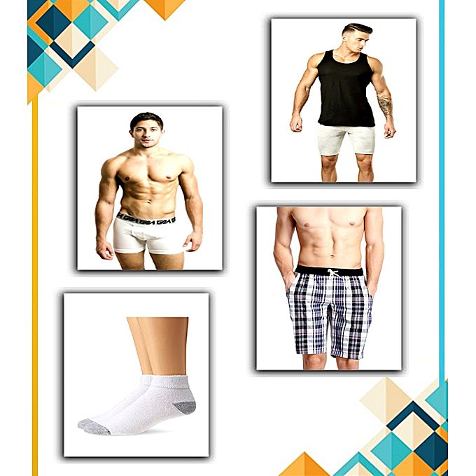 SIK Collection Combo Super Deal – Vest, Boxers, Socks & Shorts For Men