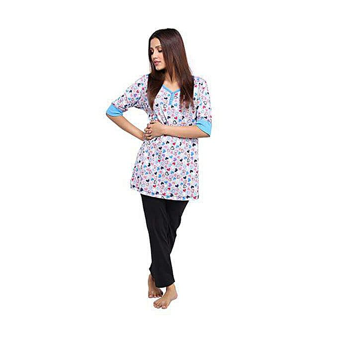 Printed Night Wear Suit For Women