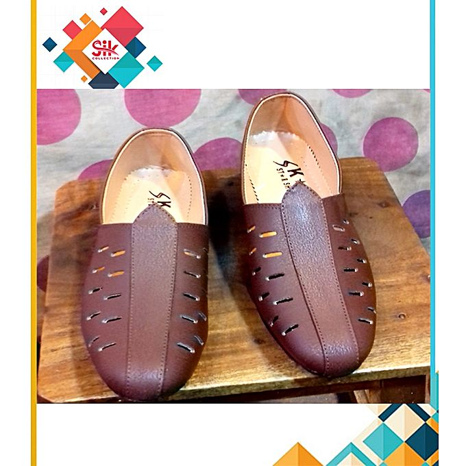 SIK Collection Brown Stylish High Quality Imported Loafer Shoes For Men