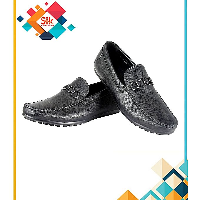 SIK Collection Black Stylish High Quality Imported Loafer Shoes For Men
