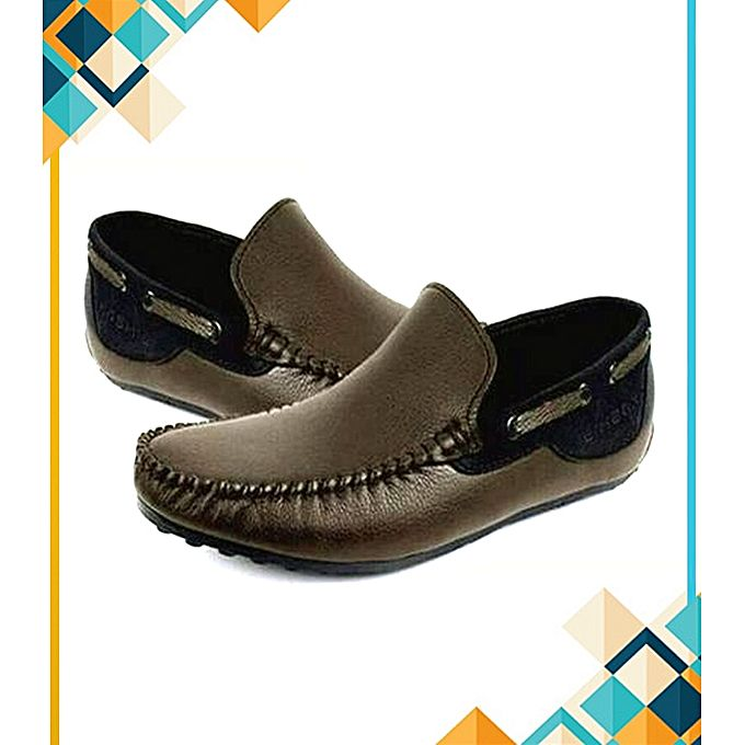 SIK Collection Brown Loafers Stylish Casual Shoes For Men