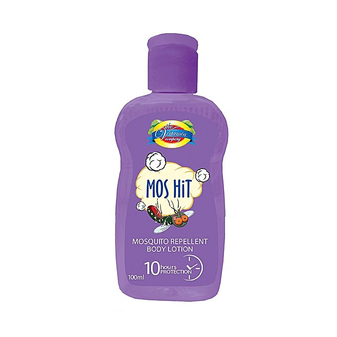 The Vitamin Company Mos Hit Mosquito Repellent Body Lotion - Purple