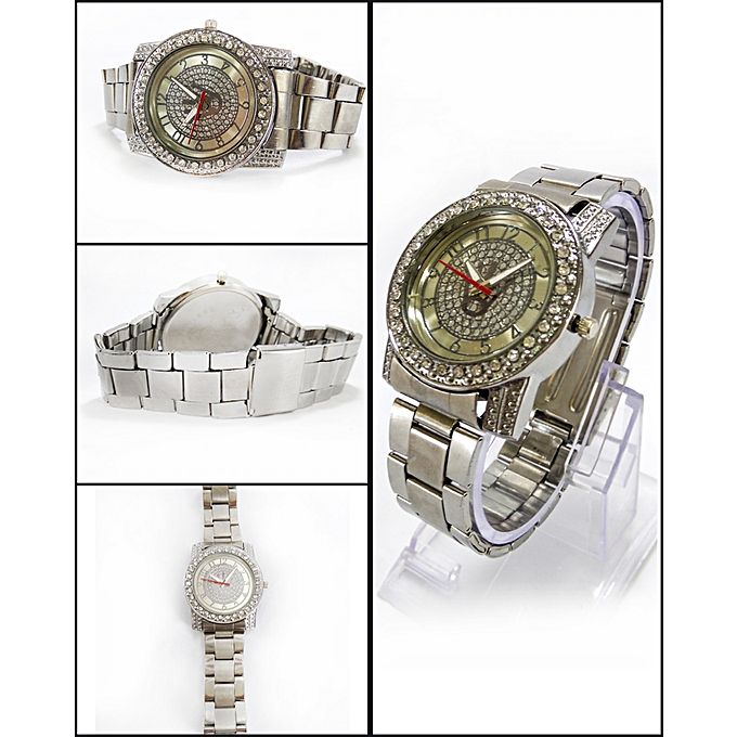 Aybeez Silver Stainless Steel Watch For Men