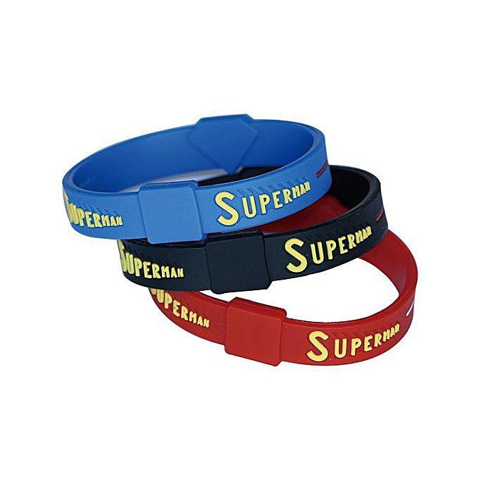 Pack of 3 Superman Bracelet For Boys