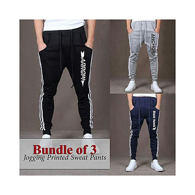 Pack Of 3 Jogging Printed Trousers For Men