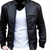 Men's Slim Fit Pu Black Leather Jacket A1