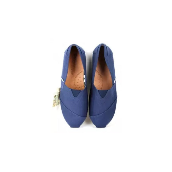 Blue Rubber Canvas Shoes for Men