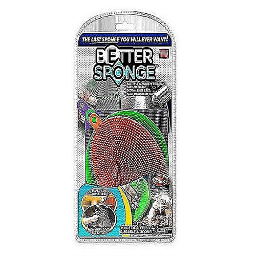 Pack Of 3-Better Sponge Silicone Mildew