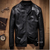 Men's Slim Fit Pu Leather Jacket M55