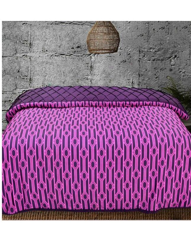 Khas Multicolor Cotton Polyester King Size Quilt Cover