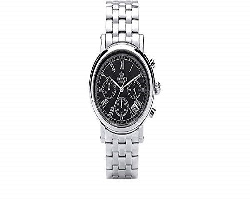 Royal London Chronograph Stainless Steel Black Dial Watch 41193-06