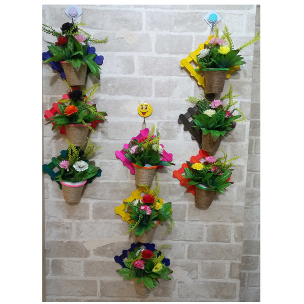 Pack of 3 - Popsicle Wall hanging Art Flower Decoration Piece