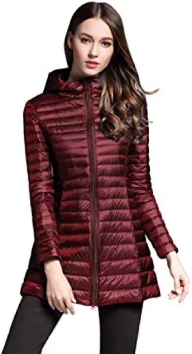 Women's Winter Long Sleeves Packable Jacket Hooded Multi Color