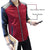 Red maroon sleeves jacket with leather sleeves for men