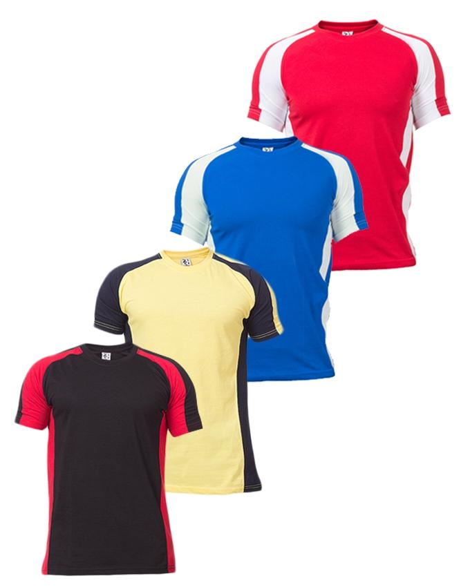 Pack of 4 - Multicolor Cotton T-Shirts For Men