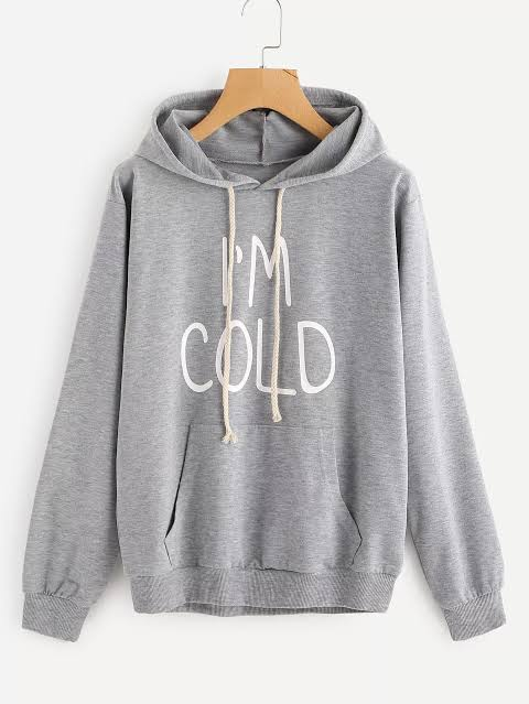 I'm Cold Printed With Front Pockets Hoodie For Men