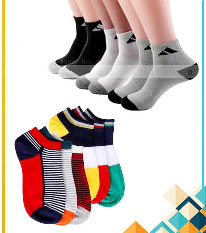 Pack of 06 – Imported China High Quality Ankle Dress Socks For Men