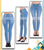 Sky Blue Denim Jeans For Women