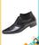 Black Stylish Dotted Designs Shoes For Men