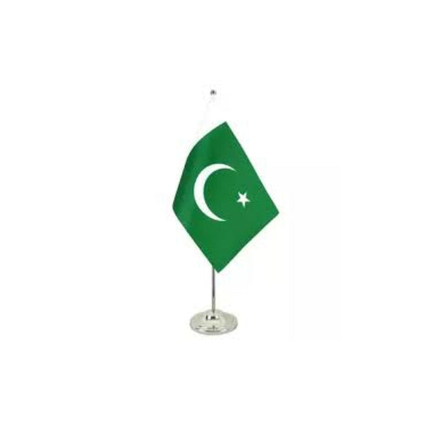 Pakistan Table Flag with Metal Hanger & Metal Base