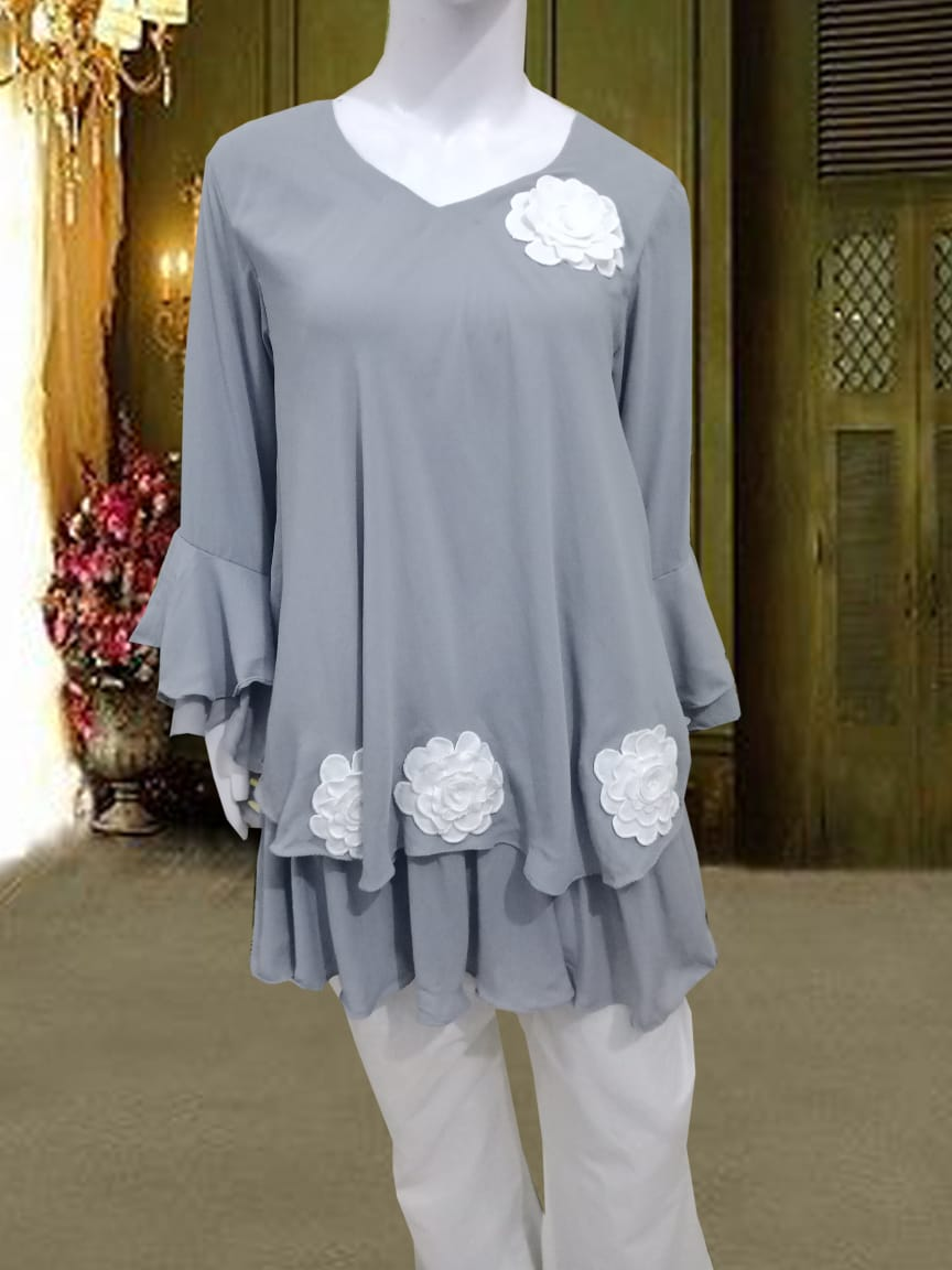 Western Style Stitched Kurti for Woman